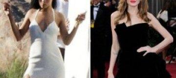 Рианна копирует правую ногу Анджелины Джоли