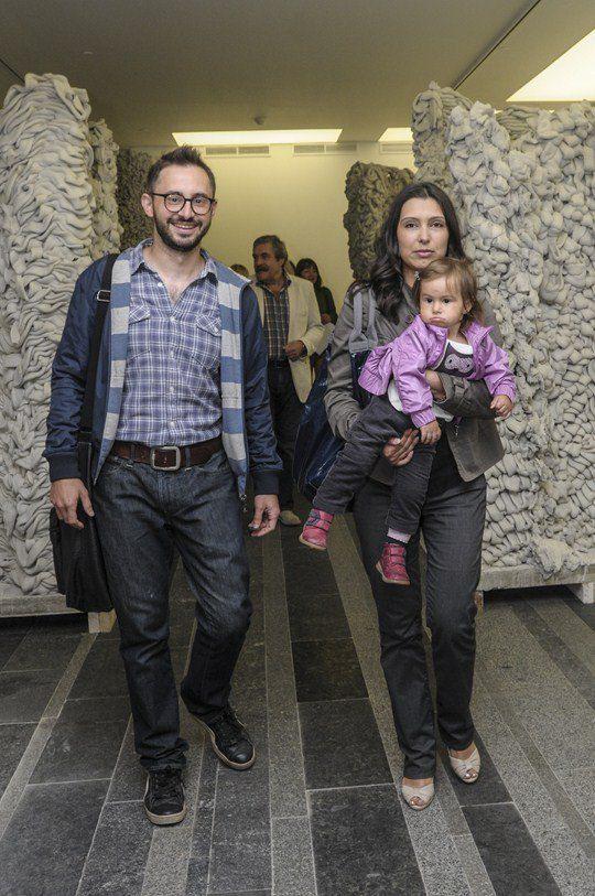 Галерист Павел Гудимов с семьей