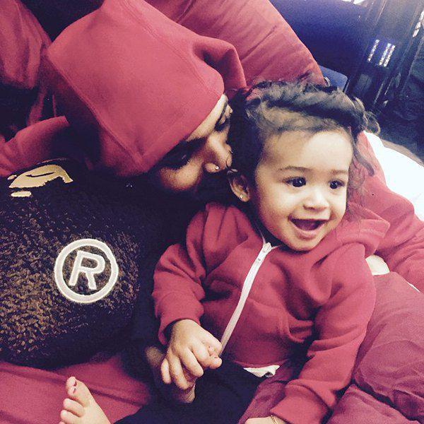 Крис Браун с дочерью