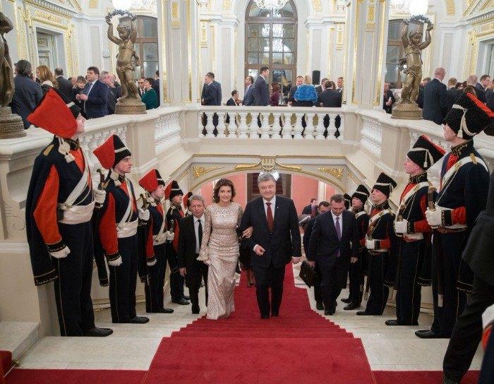 Петр и Марина Порошенко - первая пара официального приема