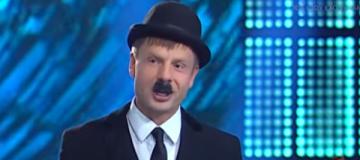 Гончаренко сдержал обещание и пришел на телеэфир в костюме Чарли Чаплина