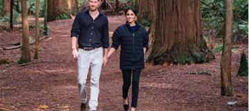 Принц Гарри снял беременную Меган в древнем лесу