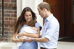 Уильям и Кейт Миддлтон показали своего сына публике