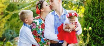 Украинская семья стала одним из лидеров фотопроекта Dolce&Gabbana
