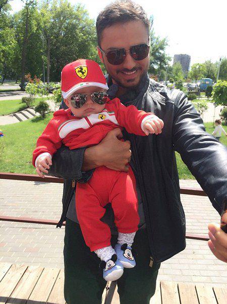 Эдгар Каминский с сыном Леонардом