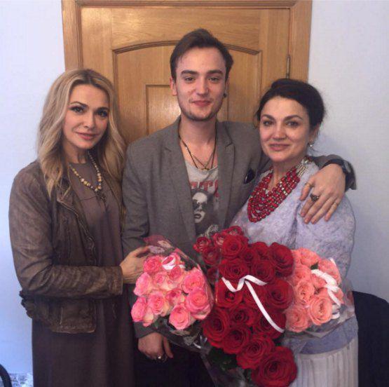 Ольга, сын Натальи 19-летний Вячеслав Хостикоев, Наталья Сумская