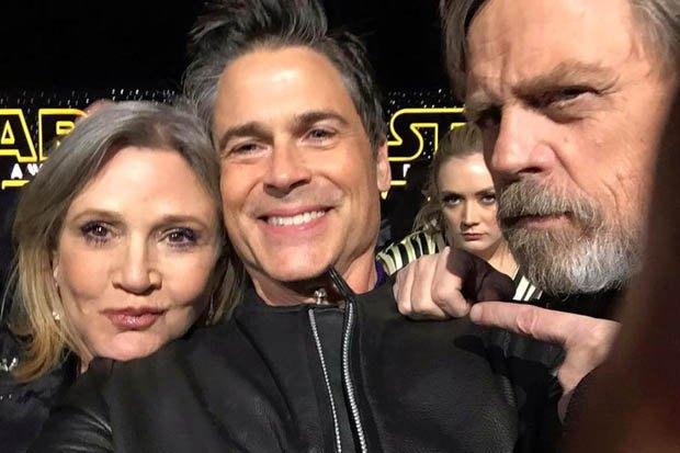 Роб Лоу с принцессой Леей и Люком Скайуокером