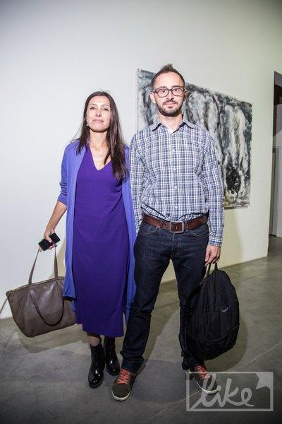 Галерист Павел Гудимов с женой