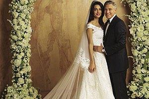 Свадебные фото Джорджа Клуни и Амаль Аламуддин попали в Сеть