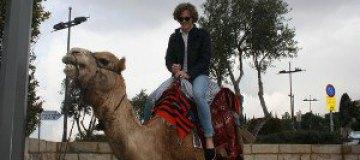 Матиас в Израиле общался с верблюдами