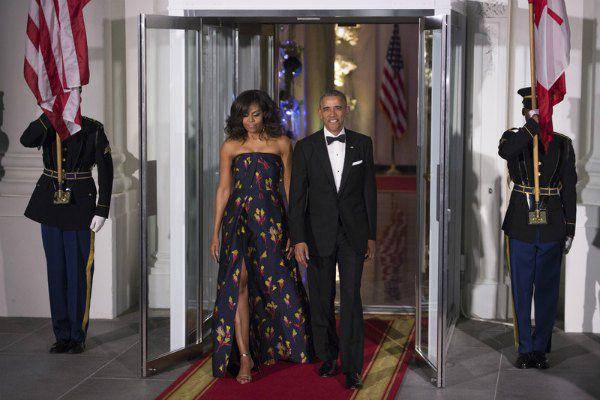Барак и Мишель Обама на торжественном приеме