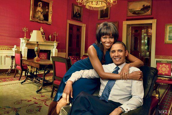 Мишель и Барак Обама в апрельском номере Vogue