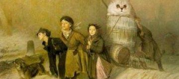 Немецкий художник интегрирует котов в произведения искусства