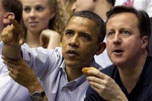 Обама и Кэмерон провели переговоры на беговой дорожке