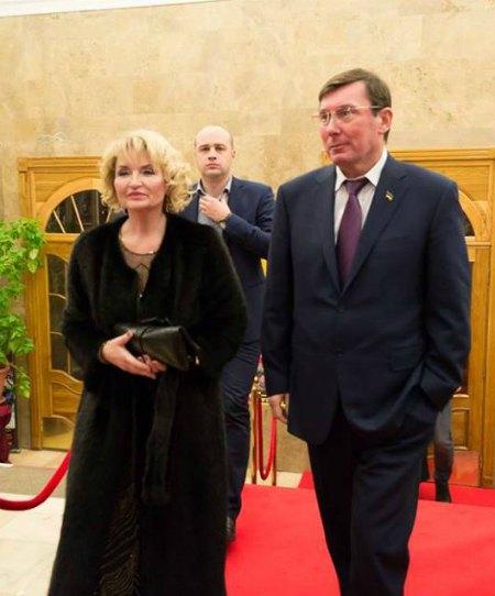 Ирина Луценко появилась на церемонии награждения вместе с мужем Юрием Луценко