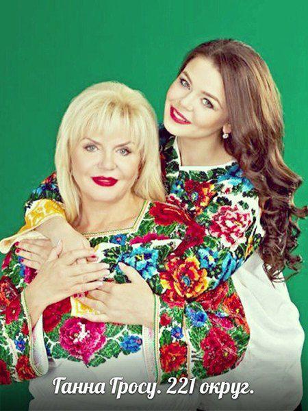 Алина Гросу с мамой Анной
