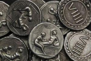 Римляне рассчитывались с проститутками специальными эротическими монетами