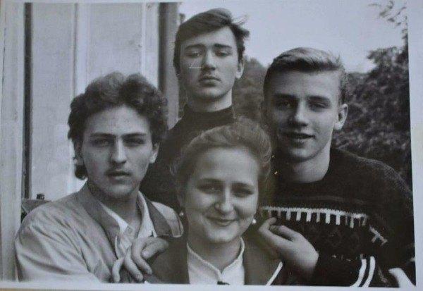 Вячеслав Довженко (слева) во времена днепровского театрального училища