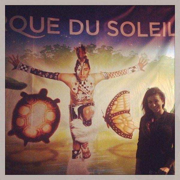 Ани в США посетила Cirque du Soleil