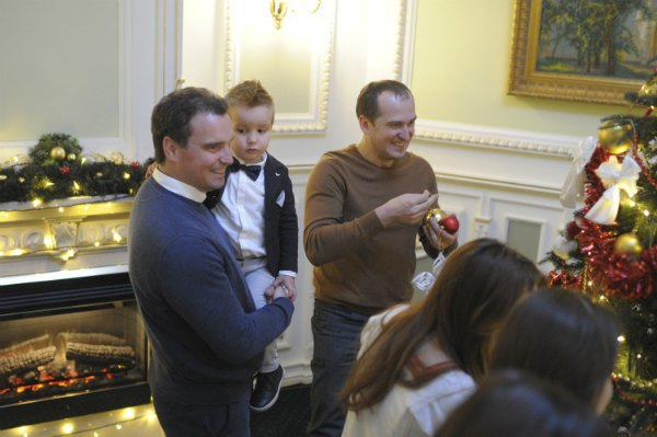 Министр экономики Айварас Абрамавичус с младшим сыном