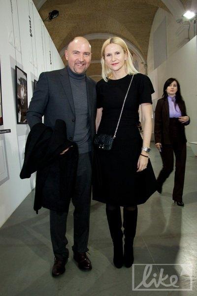 Гендиректор канала ICTV Александр Богуцкий с женой нардепом Еленой Кондратюк