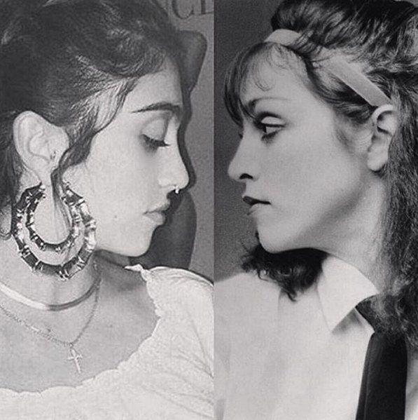 Лурдес и Мадонна в юности (справа)
