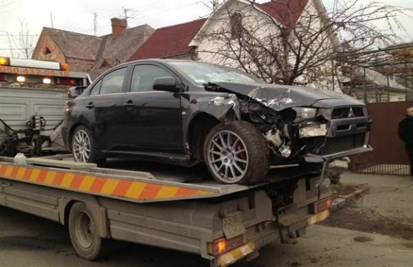Автомобиль Александра Шуфрича после ДТП