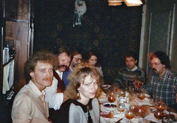 Александр Кривенко, в центре - Анна Герман с мужем, директор Radio Free Europe - Radio Liberty в Мюнхене Богдан Нагайло