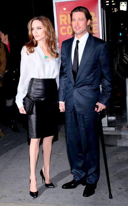 Питт и Джоли на на красной дорожке кинофестиваля в Палм-Спрингс