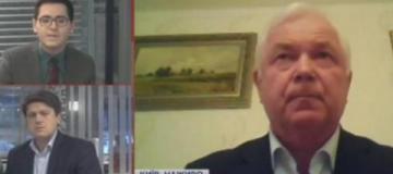 Экс-глава украинской разведки попал в прямой эфир без штанов