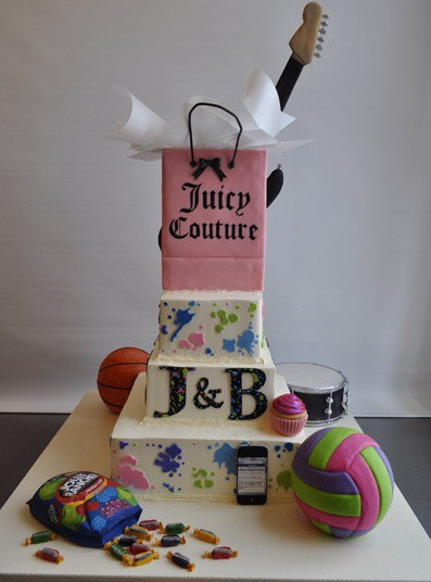 Торт для бренда одежды Juicy Couture
