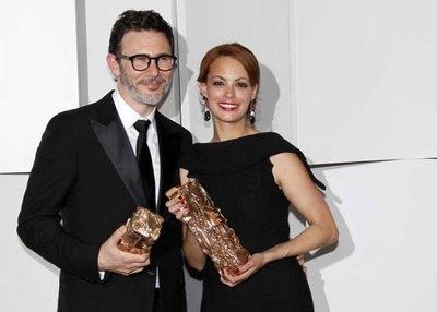 """Режиссер Мишель Хазанавичус и его жена, актриса Беренис Бежо, вдвоем получили по """"Сезару"""""""