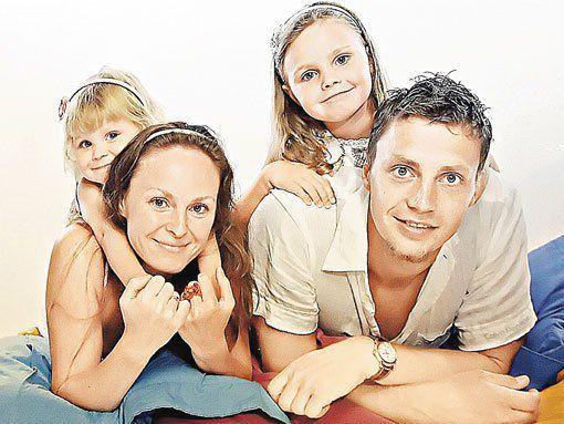 Иван Ткаченко с семьей