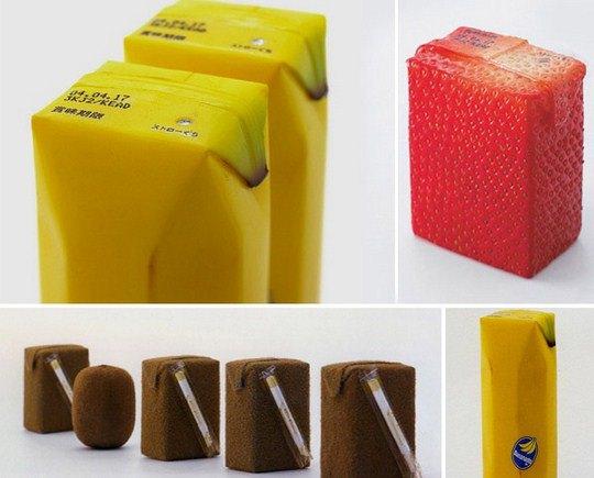 """Японский дизайнер Наото Фукасава создал упаковку для соков в стиле """"Кожица фрукта"""""""