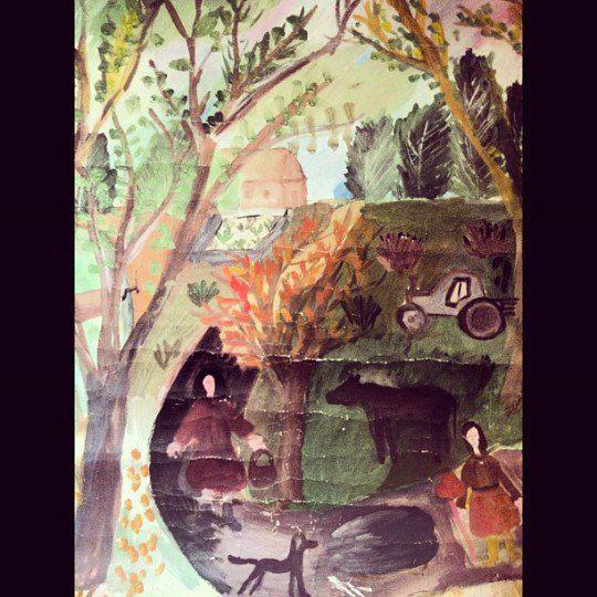 Так Макс Барских рисовал в девять лет