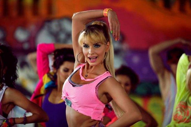 Татьяна Котова на съемках нового клипа в Киеве
