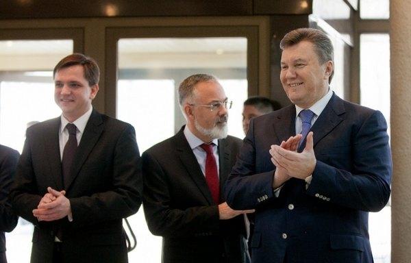 Виктор Янукович с Юрием Павленко и Дмитрием Табачником