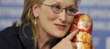 Мерил Стрип подарили матрешку с ее изображением