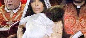 Ким Кардашьян показала, как крестила дочь в Иерусалиме