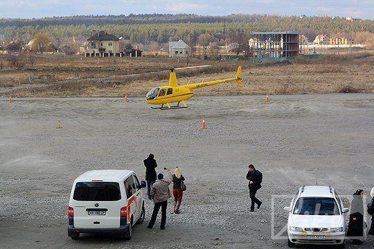 На презентацию клипа Наталья Могилевская прилетела на вертолете