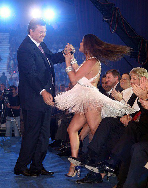 Виктор Янукович и Наталья Могилевская