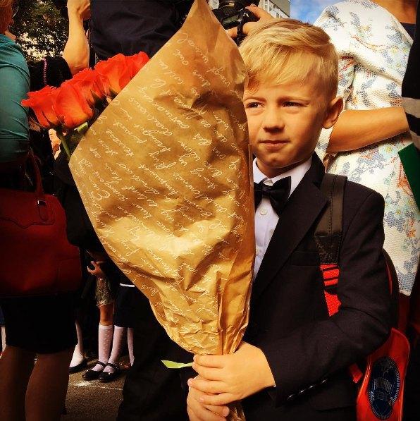 Фротмен ТНМК Фагот тоже впервые отвел в школу сына Никиту