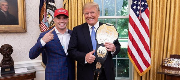 Трамп получил пояс чемпиона UFC