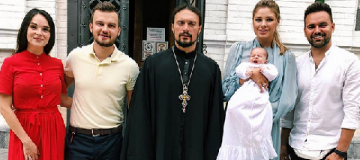 Невестка Литвина стала кумой телеведущего Мирошниченко