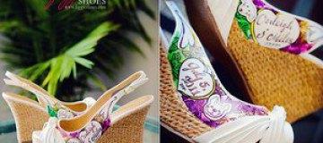 Рисунки на свадебных туфлях