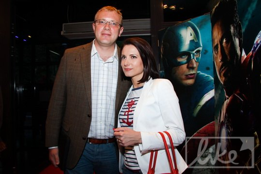 Народный депутат Андрей Шевченко с супругой телеведущей Анной Гомонай