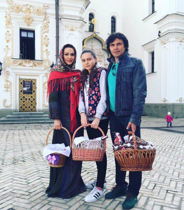 Ольга Сумская, дочь Аня, Виталий Борисюк