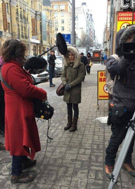 Съемочный процесс нового фильма происходил на заснеженных улицах украинской столицы