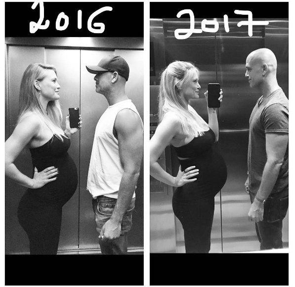 Бар Рафаэли показала, как выглядела во время первой беременности и второй