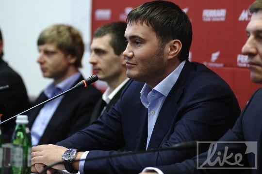 Виктор Янукович-младший на презентации Ferrari Challenge Europe